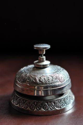 Настольный колокольчик серебряный, 8888