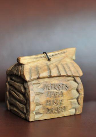 «Банька», колокольчик из липы, автор А.Щеглов, Тверь